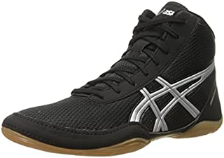 ASICS Men's Matflex 5-M, Black/Silver, 9.5 M US