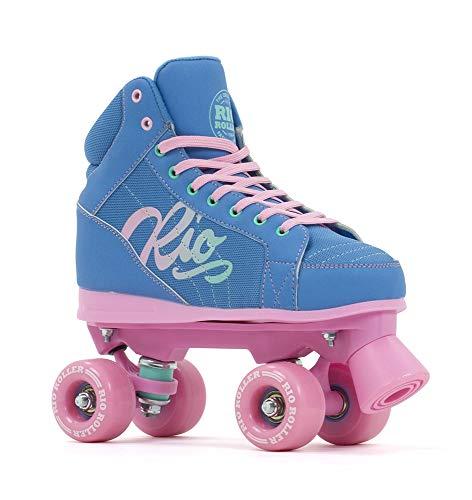 Rio Roller Lumina Quad Skates Rollschuhe blau-rosa Teal/Coral, 39.5