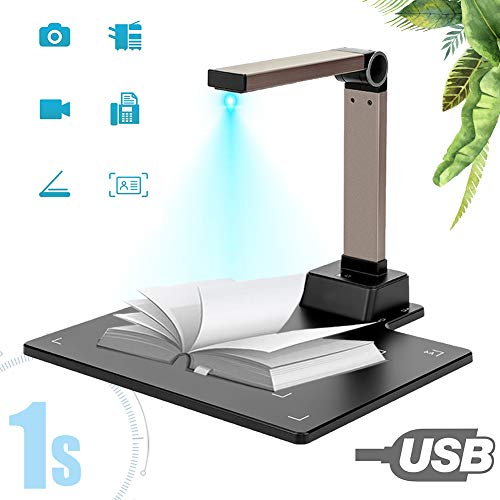 Great Price! High Definition Portable Scanner,15 Mega Pixel Document Camera for Teachers with LED Light CMOS Sensor OCR Function Real-Time Projection for Office University