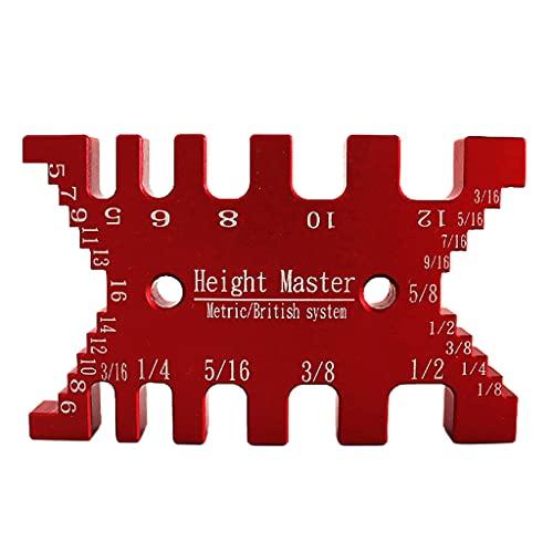KLOVA Calibre de Espiga de Alta precisión, Calibre de Tarjeta métrico e Imperial, enrutador para carpintería, Sierra, máquina de Mesa, Herramienta de medición, Regla