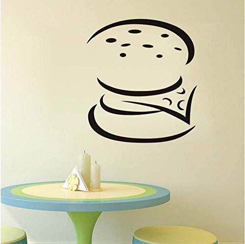 Doe-het-zelf eenvoudige sjabloon uithullen burger keuken wandsticker huis decor vinyl kunst wandtattoo restaurant zelfklevend afneembaar 58 * 67 cm