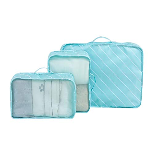 Storage Bag PRIDE S Travel suitcase toiletries set waterproof luggage travel finishing packing shoes clothes underwear packaging package Storage decoration (Color : Blue)