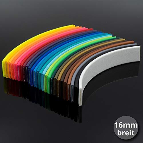 bio-leine Beta Biothane Meterware - 16mm breit | 2.5mm dick I schmutz- und wasserabweisend - bis zu 30m lang | 26 Farben auswählbar