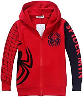 spiderman red Cotton Basic Coat For Boys