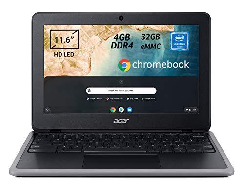 Acer Chromebook 311 C733-C2UK Notebook Portatile, Intel Celeron N4020, Ram 4 GB DDR4, eMMC 32 GB, Display 11.6  HD LED LCD, Scheda Grafica Intel UHD 600, Chrome OS, Nero