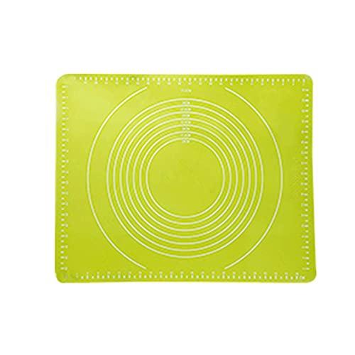 HYISHION Silikon-Pad für Küche, Haushalt, rechteckig, großes Backwerkzeug, Backunterlage (Farbe: Grün, Größe: klein) Skyjie (Farbe: Grün, Größe: groß)