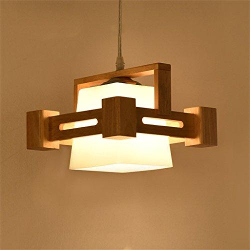 Lampadari stile rustico americano Lampadario giapponese nordico in legno e lampade in legno originale Minimalist per la sala da pranzo/camera da letto Lampada (Colore : A)