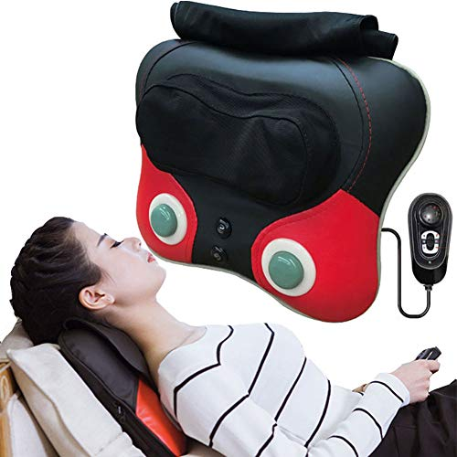 Shiatsu Neck Back Massager Massage Pillow with Heat, Deep Tissue Kneading Massager for Shoulder, Lower Back, Leg, Foot, Muscle Pain Relief, Best Relaxation Gifts in Home Office and Car
