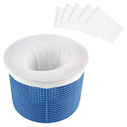 Sunshine smile Skimmer Korb Filter, Pool Skimmer Socken, Pool Skimmer Filter, Pool Filter Netz, Filterschoner, Körbe Und Skimmer, Pool Skimmer,Skimmer Korb Für Schwimmbad (5pcs)