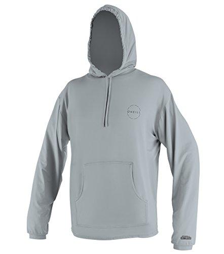 O'Neill Men's 24-7 Traveler UPF 30+ Long Sleeve Sun Hoodie, Cool Grey/Cool Grey, XL