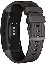 NotoCity Compatible Samsung Gear Fit2 Pro Band Solft Silicone Gear Fit2 Watch Strap for Samsung Gear Fit2 Pro Smartwatch Bands(Black, Small)