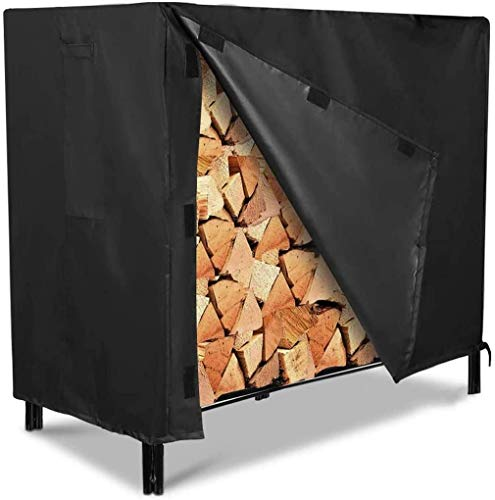 Firewood Rack Cover 600D Log Rack Cover Heavy Duty Outdoor Firewood Rack Snow Protector Waterproof 4 Feet 48L x24W x42H inches