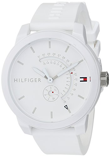 Tommy Hilfiger Reloj Analógico para Hombre de Cuarzo con Correa en Silicona 1791481