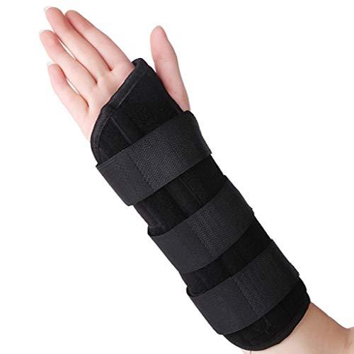 WUHX Fixierung des Handgelenks mit Bandschiene Einstellbare atmungsaktive Verstauchung Unterarm Handgelenk Armschiene Sportschutzwerkzeugefür älteren Patienten,Right,M