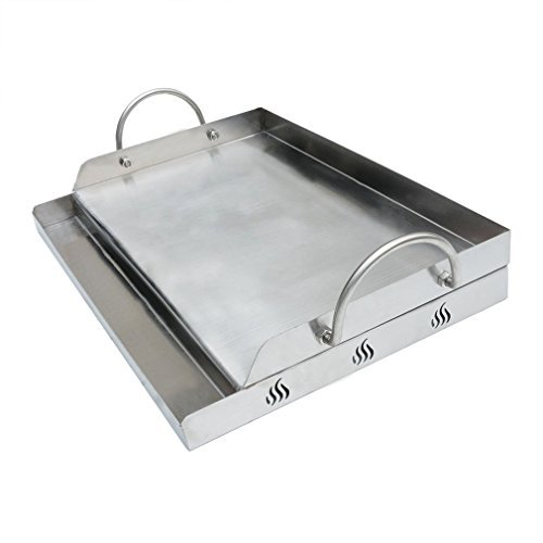 Onlyfire Stainless Steel Rectangle Griddle Plancha for Most BBQ Gas Grills and Charcoal Grills