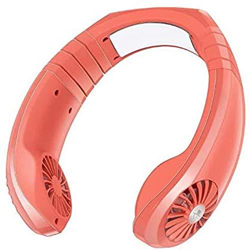 AFANG Enfriador Aire Mini Aire Acondicionado, Micro USB Portátil 2 En 1 Enfriamiento Cuello Colgante Ventilador, Doble Cabeza Viajes Interior Exterior Ventilador,C