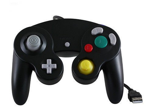 Ruitroliker USB Wired Controller Gamepad für GameCube NGC Stil PC Mac Schwarz