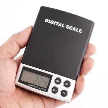 LCD 2000g - 0.1GRAM Digital Pocket Scale Jewelry Weight Electronic Scale - 4.4lbs