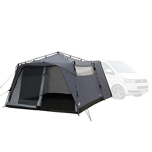 Qeedo Busvorzelt Quick Motor (2019), Freistehendes Campingzelt als Anbau an Ihr Campingmobil, Camper, Sekundenschnell Aufgebaut - grau