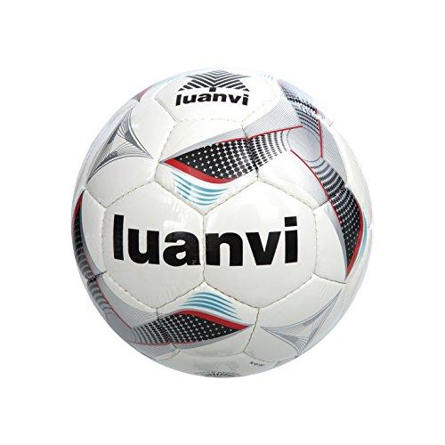 Luanvi Balón Cup T5, Unisex, Multicolor (Negro/Rojo), 5
