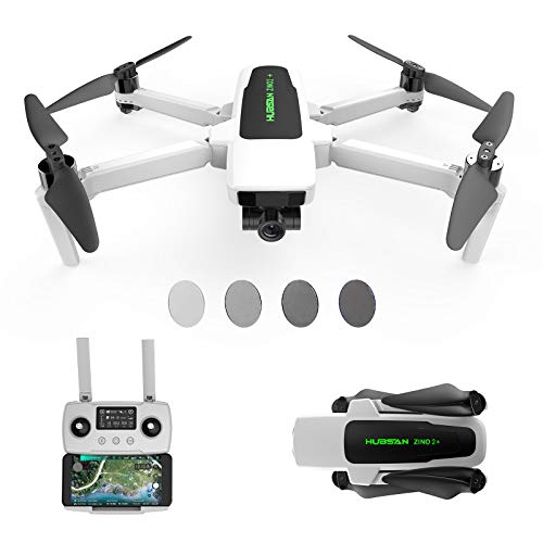 HUBSAN Zino 2 Plus Drone with 4K 60fps UHD Camera 3-Axis Gimbal 9KM Transmission GPS FPV RC Quadcopter, Auto Return Home Brushless Motor 35min Flight Time, ND Filter Sets Included