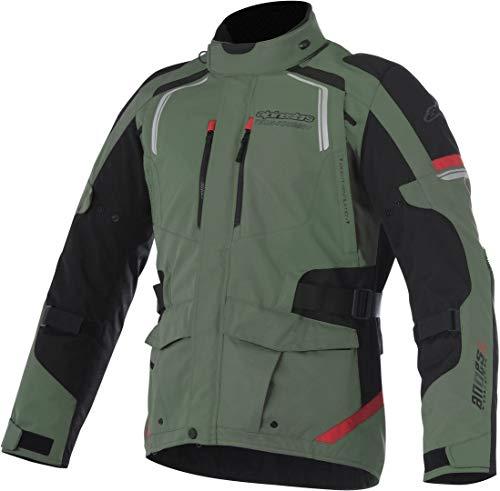 Alpinestars Chaqueta moto Andes V2 Drystar Verde Negro Rojo, Verde military/Negro/Rojo, 3XL