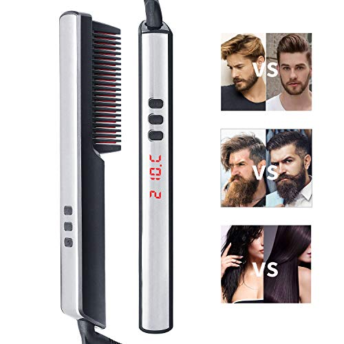 Alisador barba, Ato Bea Cepillo Alisador de Pelo 3 en 1 Cepi