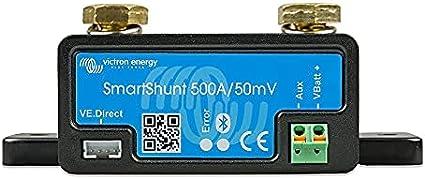 Victron Energy Shu050150050 SmartShunt Monitor de la batería, 500A, Bluetooth