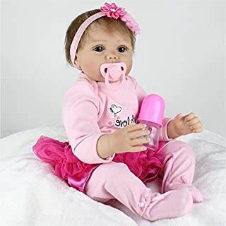 CHAREX Lifelike Reborn Dolls, Realistic Silicone Newborn Doll Toys, 22 Inch Soft Vinyl Reborn Baby Dolls Gifts for Age 3+, Name Lucy …