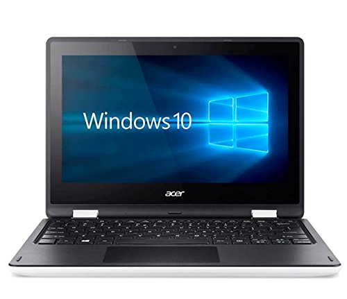 Acer Aspire R 11 R3-131T-C9QV - Portátil de 11.6' (Intel Celeron N3050, 4 GB de RAM, Disco HDD de 500 GB, Windows 10 Home), blanco y negro - Teclado QWERTY Español