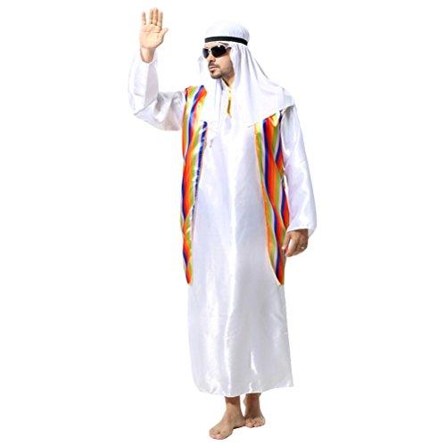 Zhuhaitf Karneval Mittelalterlich Fancy Dress Kostüm Partei Mittlerer Osten Outfit für Halloween Herren Cosplay Dubai Araber Robe Set Style 1-4 Available