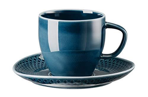 Rosenthal 10540-405202-14770 Junto Ocean Blue Kaffeetasse 2tlg (1 Obertasse & 1 Untertasse)