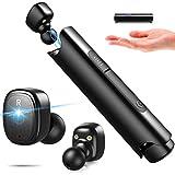 PUNICOK Bluetooth Kopfhörer, IPX7 Wasserdicht Sport Earphones, 6 St&en Spielzeit mit Ladekoffer, Bluetooth 5.0 Kabellos in Ear Ohrhörer für iOS Android