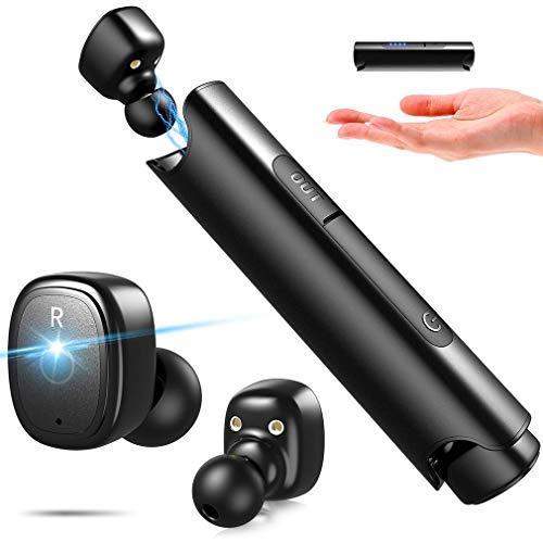 PUNICOK Bluetooth Kopfhörer, IPX7 Wasserdicht Sport Earphones, 6 Stunden Spielzeit mit Ladekoffer, Bluetooth 5.0 Kabellos in Ear Ohrhörer für iOS Android