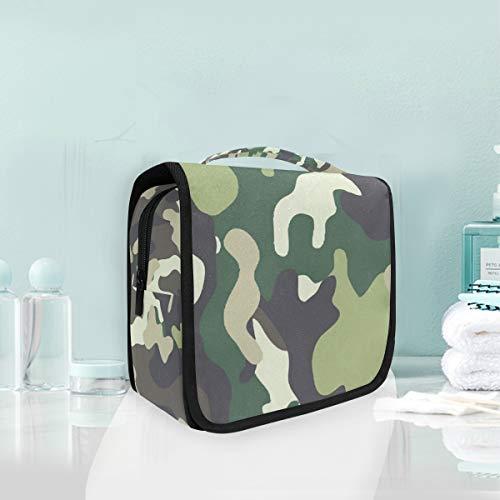 MONTOJ Grande trousse de toilette à suspendre Multicam - Imprimé camouflage - Étanche - Sac de rangement multifonctionnel