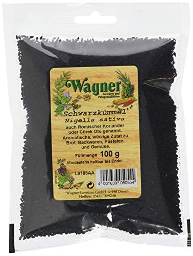 Wagner Gewürze Schwarzkümmel Samen aromatisches Gewürz für Brot, Kartoffeln, Gemüse & Eintöpfe, natürlich & ungemahlen, Schwarzkümmelsamen, 100 g