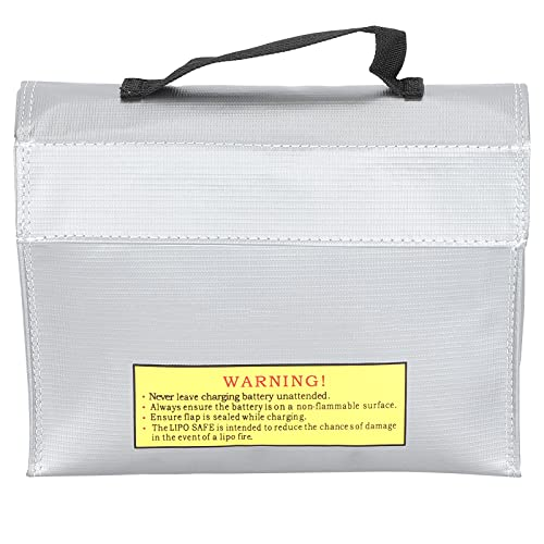 Bolsa de Seguridad Li-Po, Bolsa Resistente al Fuego Li-Po Safe Bag Portátil a Prueba de explosiones para Almacenamiento de baterías Li-Po para Almacenamiento de baterías de Aviones RC