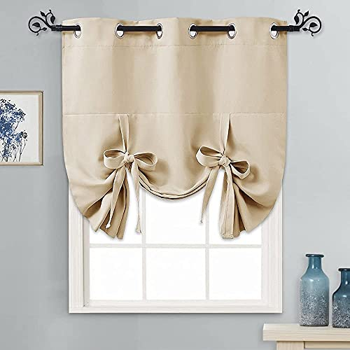 Ribbon Burlap Kitchen Curtains