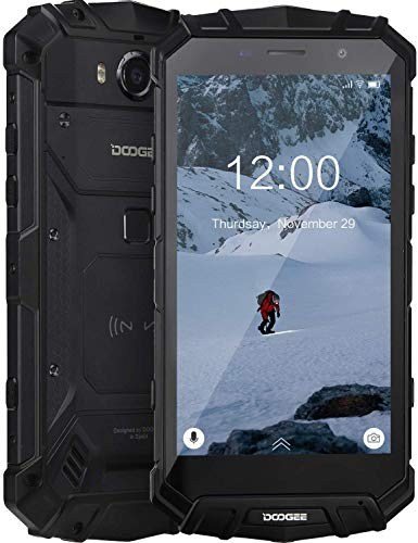 DOOGEE S60 Lite Unlocked Rugged Smartphones Waterproof Rugged Cell Phones 4G Octa-Core 4GB+32GB 5.2 inch FHD Display Phone, Cameras 16MP+8MP, 5580mAh/NFC/Face ID/GPS, Black
