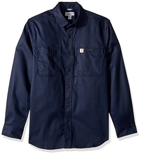 Carhartt Herren Rugged Professional Long-Sleeve Work T-Shirt, Navy, L