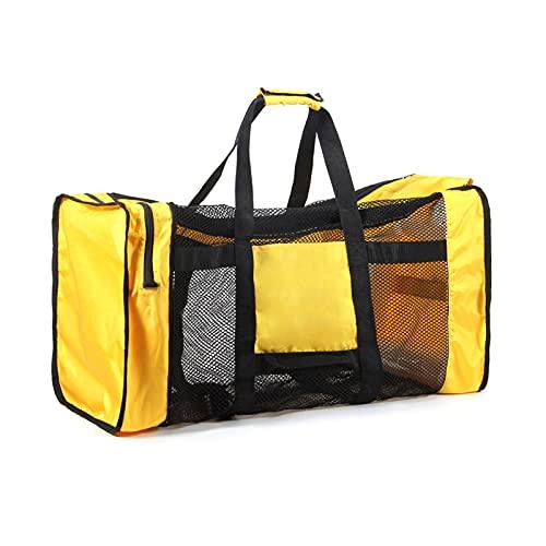 JYGHM Bolsa de Equipos de Buceo, Bolsa de diamufel de Malla, Lona de Viaje de Malla para Buceo y Engranajes de Snorkel, Gran Capacidad, para Viajes de Buceo (Color : Yellow)