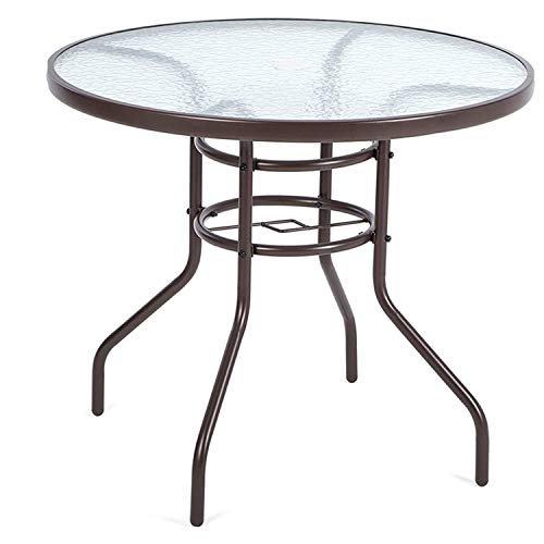 Havnyt Round 4 Seater Patio Table Steel 80cm