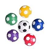 LIOOBO 6 Pcs 36mm Futbolines Plástico Mesa Mini Pelotas de fútbol, futbolín balones para niños y Adultos Fiesta cumpleaños favores Bolsas Fiesta Juego de Juguete - Color