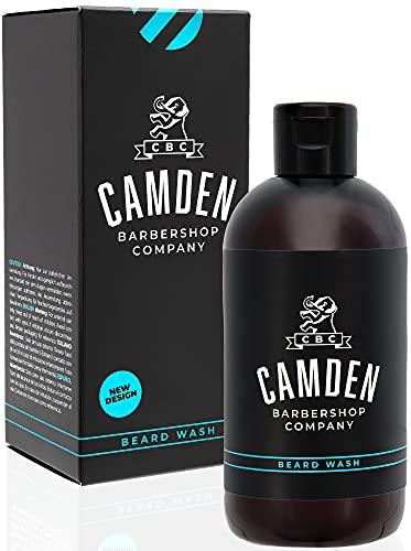 Shampoing pour la barbe 2 en 1 de Camden Barbershop Company ● fabriqué au Royaume-Uni ● soins naturels pour la barbe et nettoyage du visage ● odeur fraîche ● sans parfum ● 250 ml