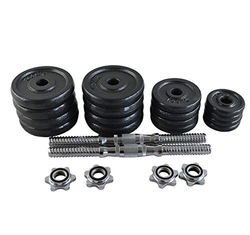 Adjustable Dumbbells Set Hand Weight Dumbbells 15kg, 20kg, 30kg or 50kg For Weight Lifting, Barbell Bench Press, Exercise, Fitness, Training or Body Building & Home Gym [INCLUDES CARRY CASE] (30)