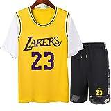 MMADD Baloncesto Masculino falsificación Dos Camiseta, el Rendimiento de Baloncesto Chaleco y Cortocircuitos del Juego James # 23,B,M