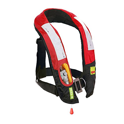 Eyson A/M-33 Inflatable Life Jacket Life Vest for Adult Automatic/Manual (717 Red, Automatic)