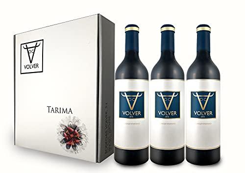 BODEGAS Y VIÑEDOS VOLVER   Vino Tinto Tempranillo   Pack de 3 Botellas   Vino de la tierra de la Mancha   Variedad Uva Tempranillo   Cosecha de 2018   (3 Botellas x 750 ml)  