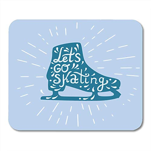AOHOT Mauspads Red Rink Let Go Skating Ice Skate Label Boot Child Drawing Sign Mouse pad 9.5