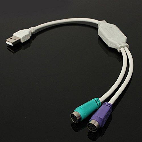 GOZAR USB Mannelijke naar PS2 Vrouwelijke Kabel Adapter Converter Gebruik Voor Toetsenbord Muis